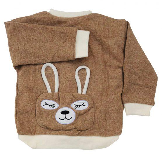 Baby Girl Sweater Wool Bear Coat