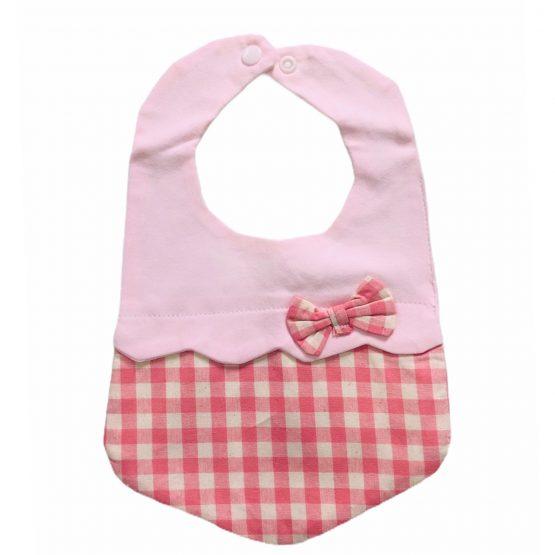 Infant Baby Check Style Bib 2 Pieces Set