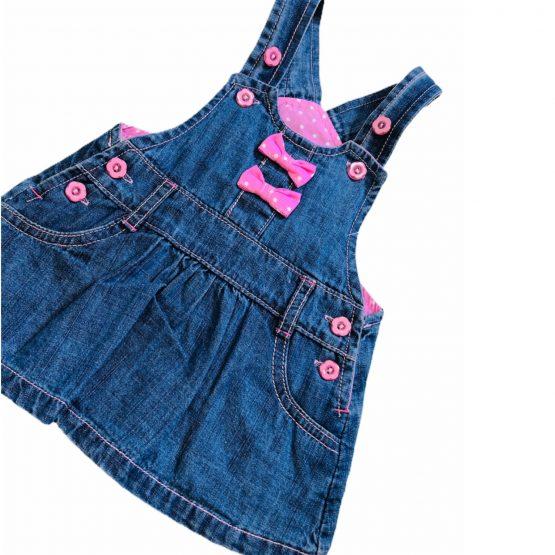 Baby Girls Jeans Romper Frock Light Weight