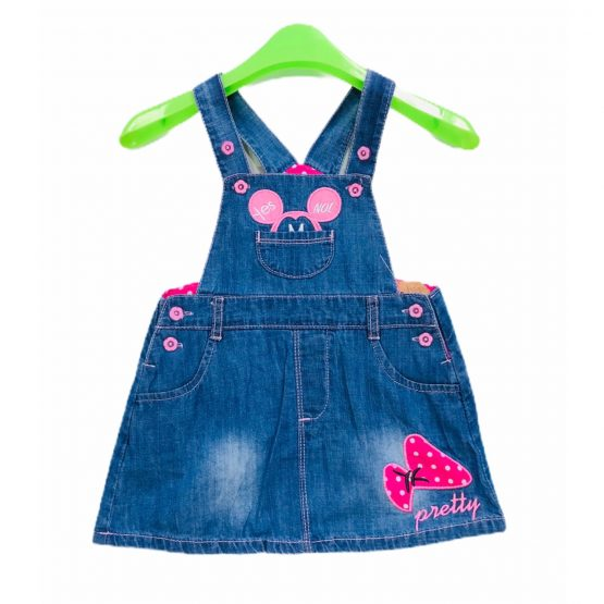 Baby Girls Jeans Romper Pretty Frock Light Weight