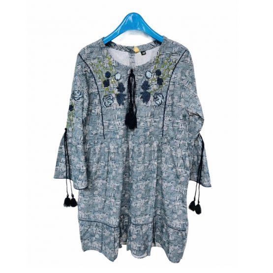 Kids Girl Cotton Embroidery Kurta