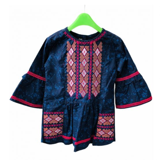 Baby Girl Summer Cotton Embroidery Kurta